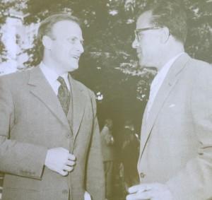 Lord Yehudi Menuhin mit  Paul Valentin